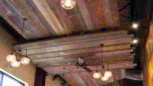 Weathered Barn Wood Ceiling