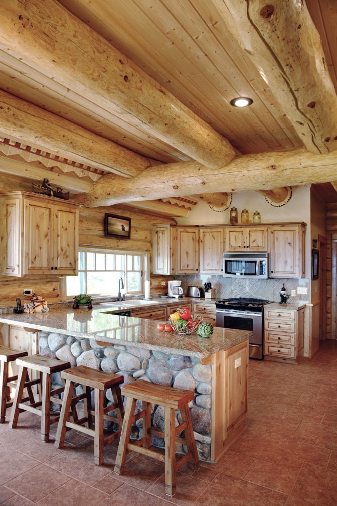 Custom Milled Wood Kitchen