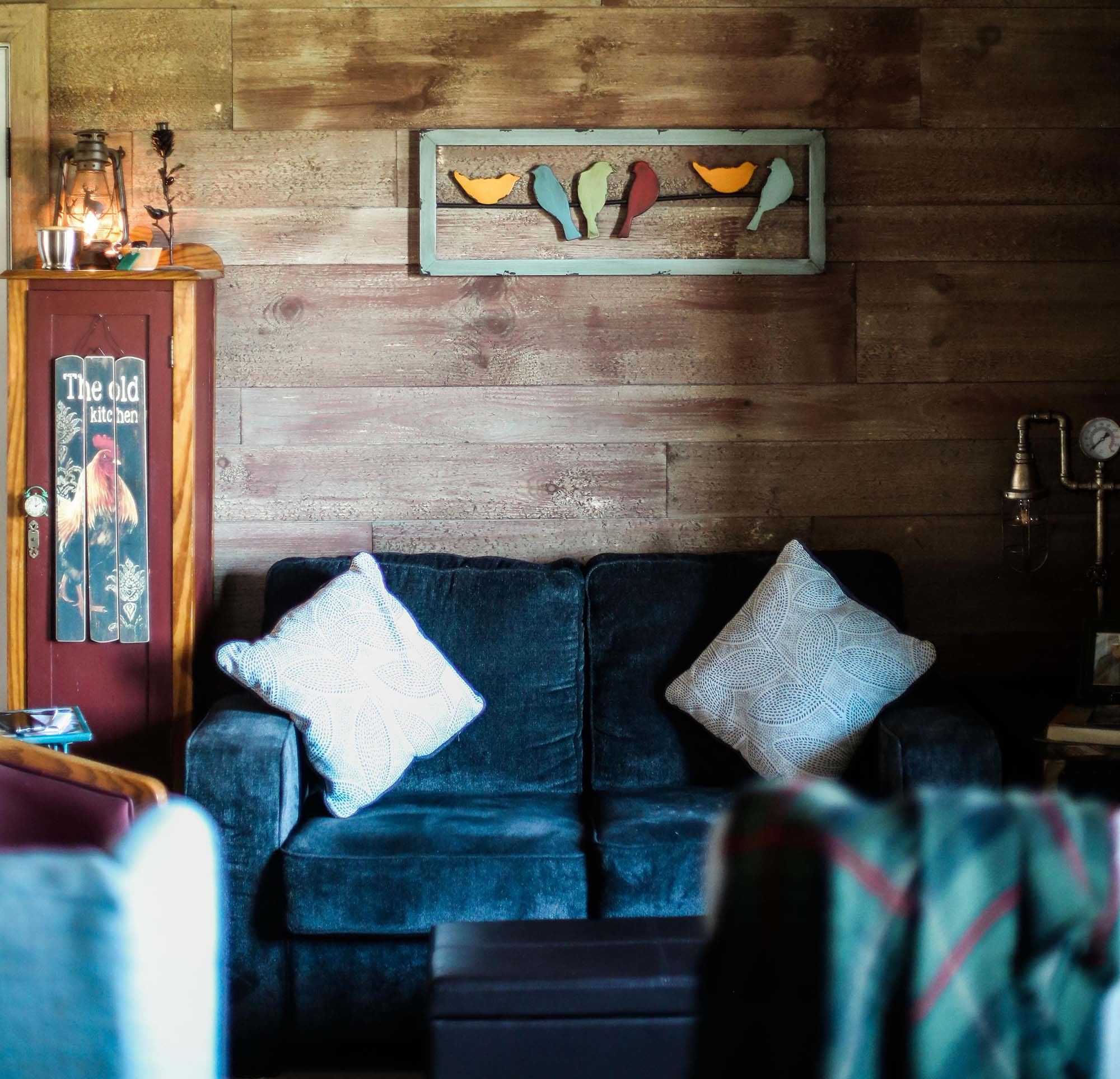 Weathered Barn Wood in a Living Room Set-Up